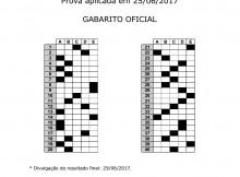 Gabarito Oficial do Processo Seletivo do Cursinho (Junho.2017)