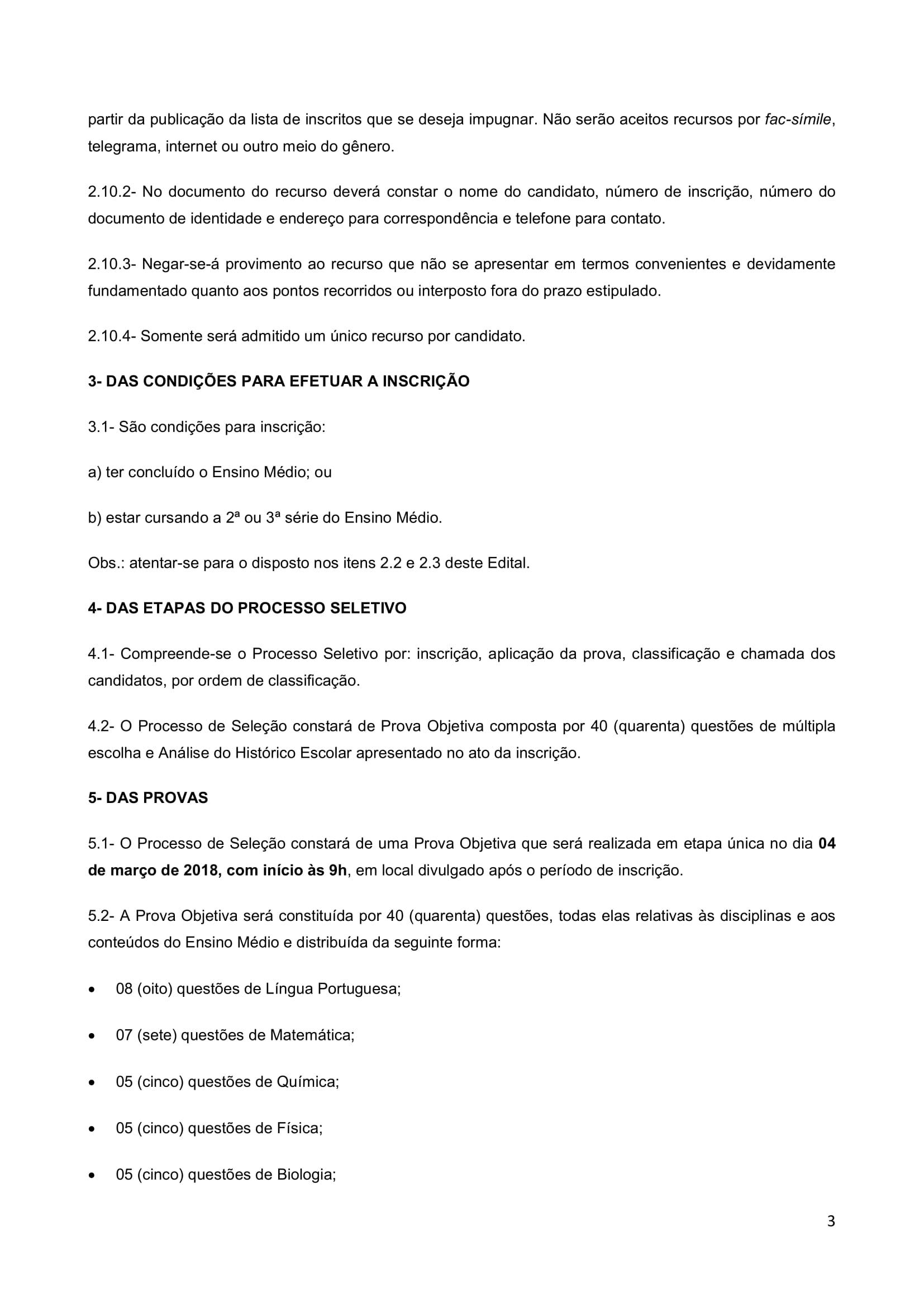 Edital Cursinho MK 2018-3