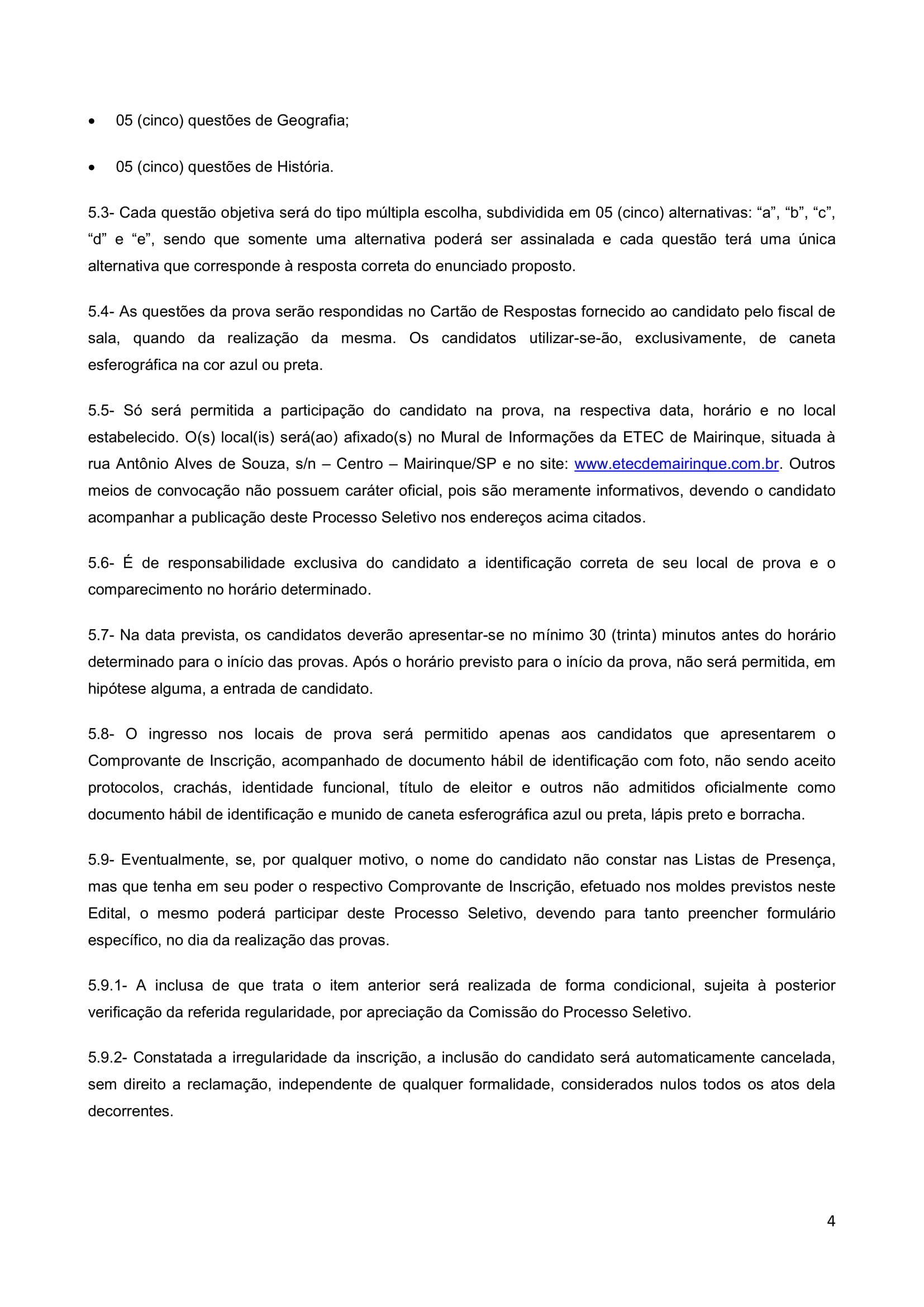 Edital Cursinho MK 2018-4