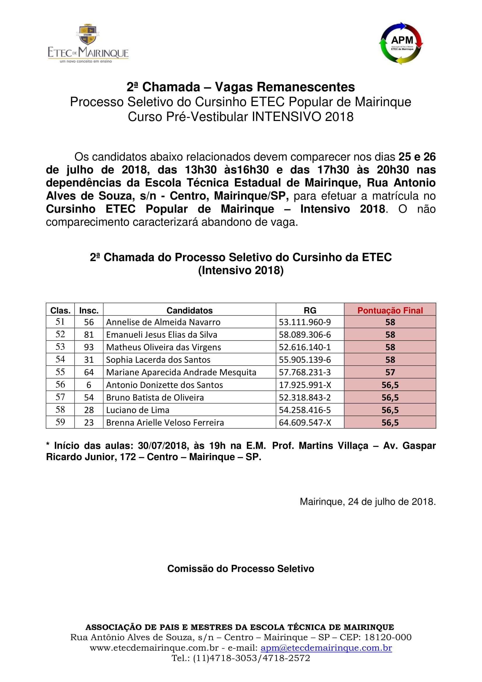 2ª Chamada - INTENSIVO 2018 (002)-1